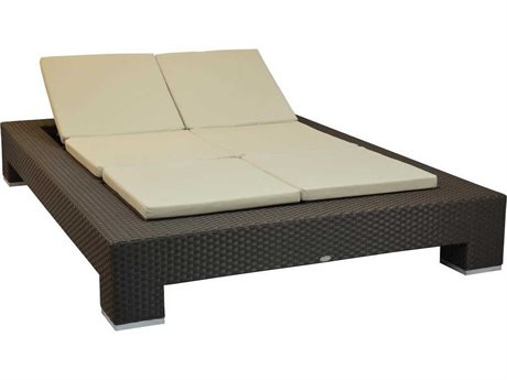 Feruci Venice Wicker Double Chaise Lounge PatioLiving