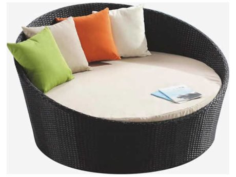 Feruci Wicker Round Bed No Canopy PatioLiving