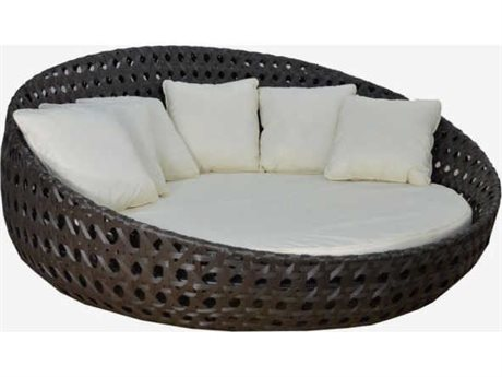 Feruci Wicker Round Bed 83 no Canopy