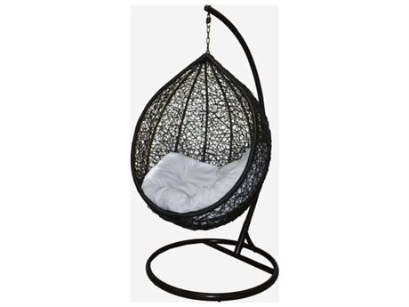 Feruci Wicker Egg Chair with Stand PatioLiving