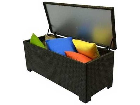 Feruci Wicker Trunk Cushion Box