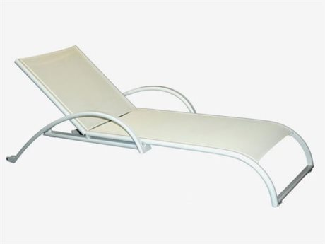 Feruci Aruba Aluminum Chaise Lounge with Wheels