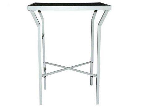 Feruci Aruba Aluminum 32W x 32D Square Bar Table with Glass Top