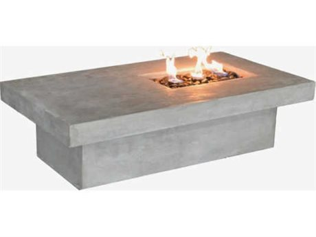 Feruci Concrete 55W x 30D Rectangular Firepit Table