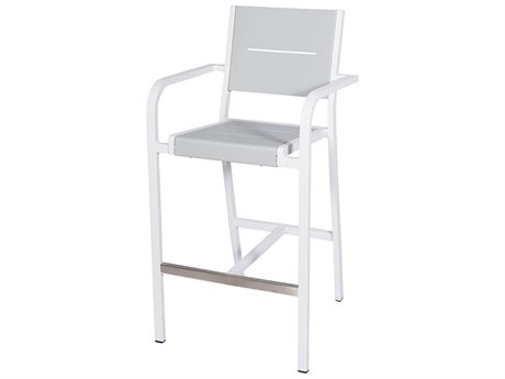 Feruci Slat Aluminum Barstool with Arm PatioLiving