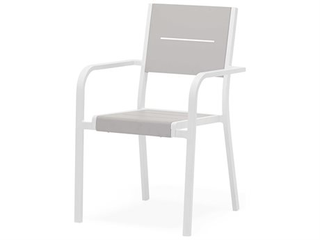 Feruci Aluminum Slat Dining Arm Chair PatioLiving