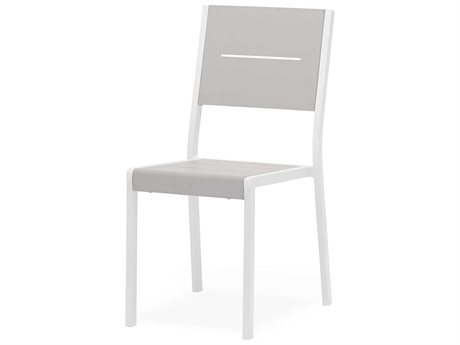 Feruci Aluminum Slat Dining Side Chair PatioLiving
