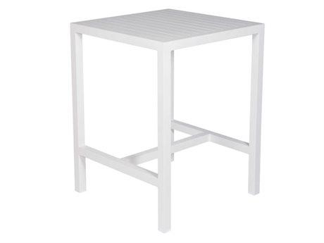 Slat Aluminum 35'' Wide Square Bar Table