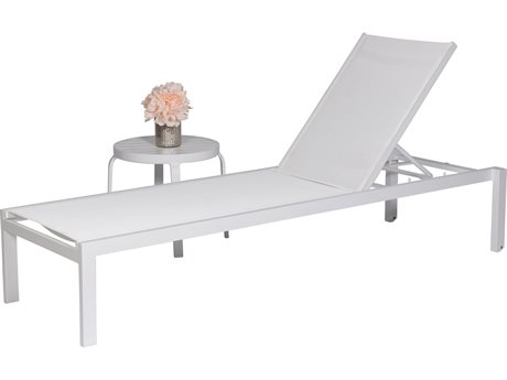 Feruci Aruba Aluminum Armless Chaise Lounge PatioLiving