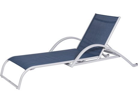 Feruci Sling Aluminum Chaise Lounge with Arms PatioLiving
