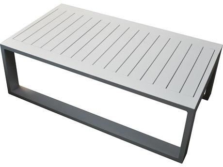Feruci Aruba Aluminum 41''W x 32'' Rectangular Coffee Table PatioLiving