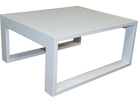 Feruci Aruba Aluminum 32''Wide Square Coffee Table PatioLiving