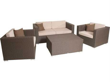 Jaavan Fidji Wicker Sofa Set