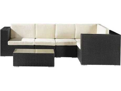 Jaavan Ibiza Wicker Sectional Lounge Set