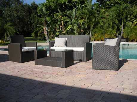 Jaavan Ibiza Cushion Wicker Lounge Set