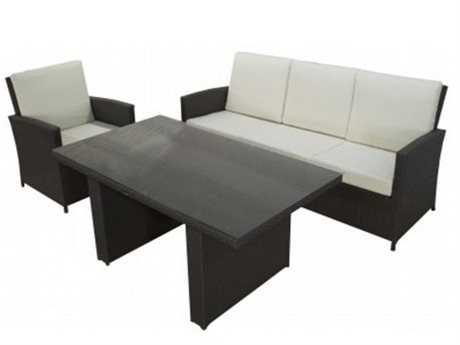 Jaavan Ibiza Cushion Wicker Dining Set