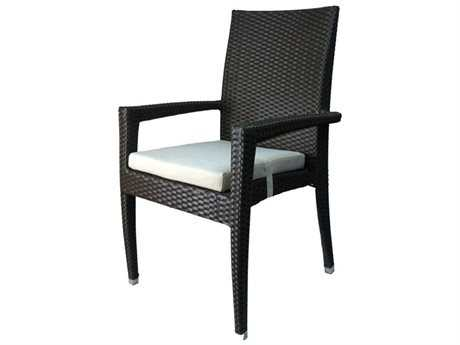 Jaavan Venice Wicker Dining Arm Chair