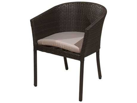 Jaavan Club Wicker Dining Arm Chair