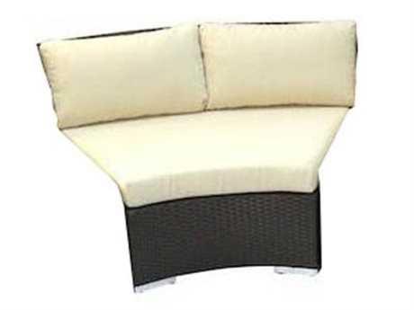 Jaavan Round Wicker Corner Lounge Chair