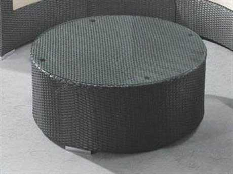 Jaavan Wicker 40'' Wide Round Coffee Table