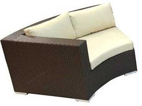 Jaavan Round  Wicker Left Arm Facing Lounge Chair
