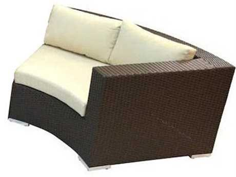 Jaavan Round Wicker Right Arm Facing Lounge Chair