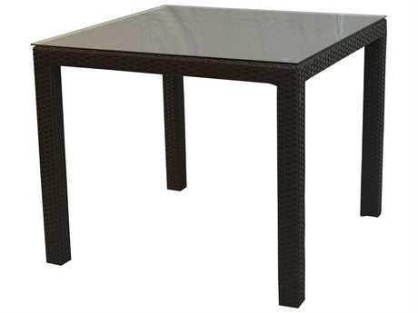 Jaavan Venice Wicker 60'' Wide Square Dining Table