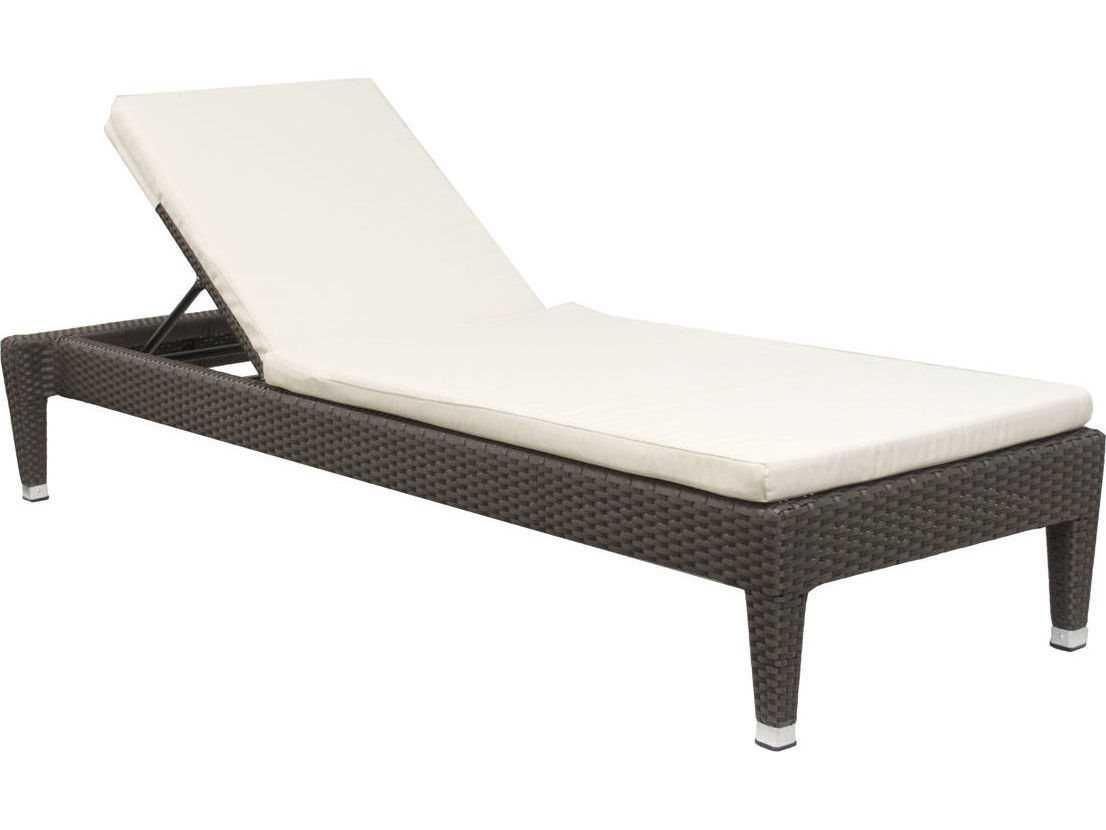 Jaavan Fidji Wicker Chaise Lounge Armless Lounge Chair