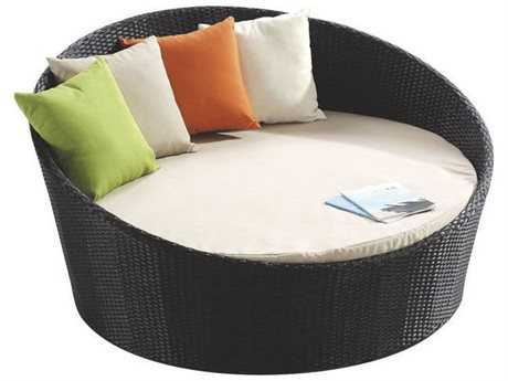 Jaavan Round Wicker Bed No Canopy