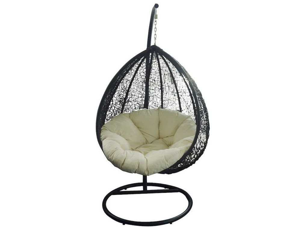 Jaavan Egg Wicker Swing Chair With Stand Jvja123