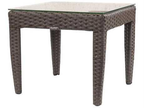 Jaavan Fidji Wicker 19 Square Side Table
