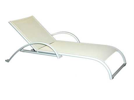 Jaavan Pure Aluminum Stackable Chaise Lounge with Wheels