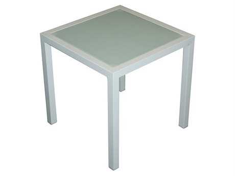 Jaavan Pure Aluminum 18'' Wide Square Side Table