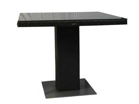 Jaavan Resto Wicker 35''W x 35''D Square Dining Table