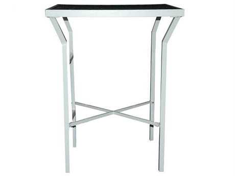 Jaavan Pure Aluminum 32'' Wide Square Bar Table