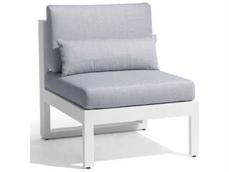 Jaavan Pure Aluminum Armless Lounge Chair