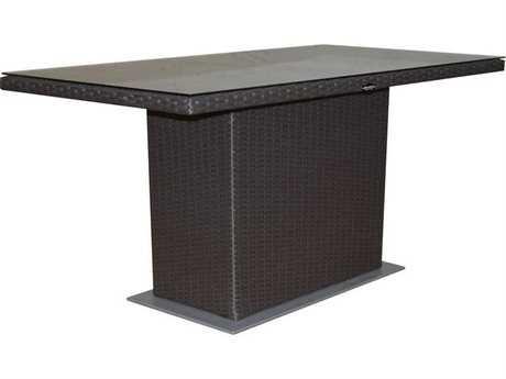 Jaavan Resto Wicker 60''W x 40''D Rectangular Dining Table