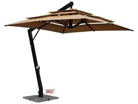 Jaavan Aluminum Hanging Commercial Umbrella  3 Layers 360 10 x 10
