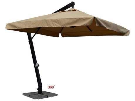 Jaavan Aluminum Hanging Commercial 10'' x 10'' 360 Single Layer with Flap Umbrella