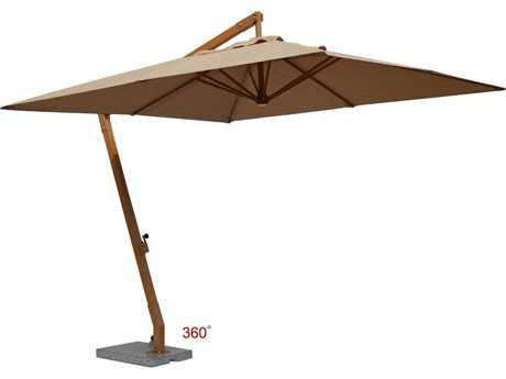 Jaavan Aluminum Hanging Residential 10'' x 10'' 360 Single Layer Umbrella
