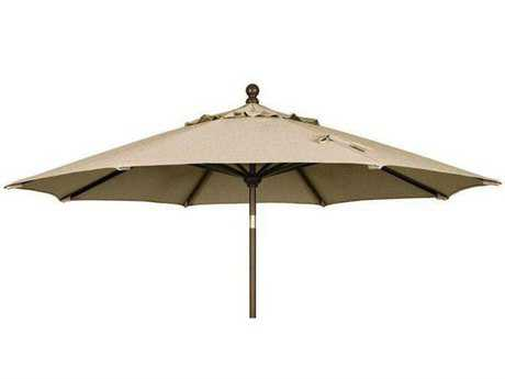 Jaavan Wood Market 10'' Wide Round Umbrella