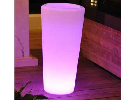 Jaavan Outdoor Led Light Recycled Plastic Planter with Remote JVJA177