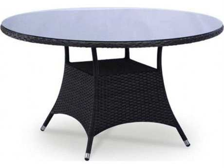 Jaavan Bistro Wicker 34 Round Dining Table (glass not included)
