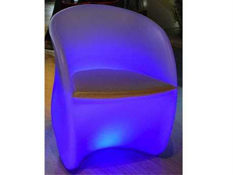 Jaavan Outdoor Led Light Recycled Plastic S Chair with Remote