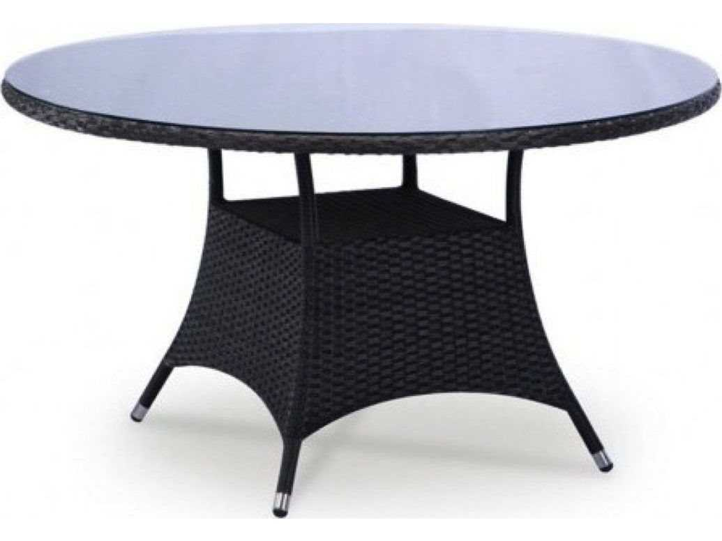 jaavan bistro wicker 40 round dining table glass not included jvja19. Black Bedroom Furniture Sets. Home Design Ideas