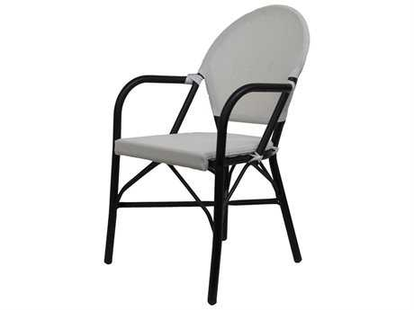 Jaavan Cafe Teak Mesh Dining Side Chair