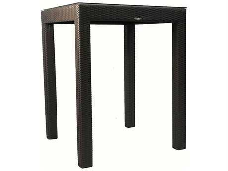 Jaavan Classic Wicker 32'' Wide Square Bar Table