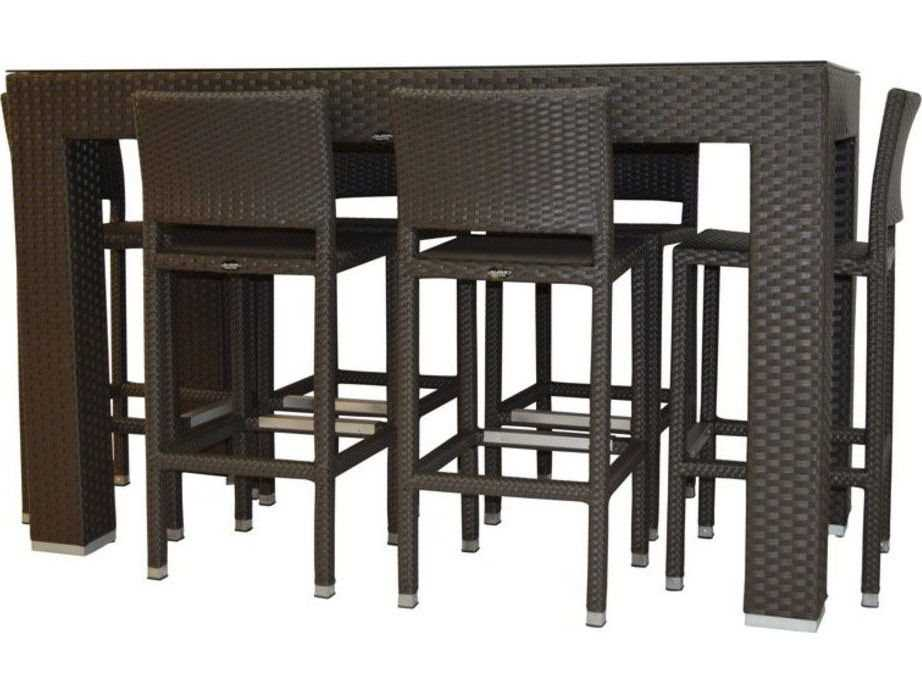 Jaavan Venice Wicker 71 X 34 Bar Table Large Ja 48