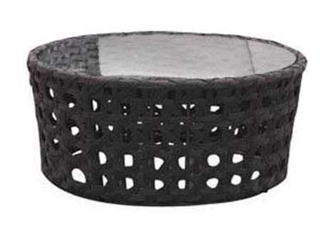 Jaavan Open Wicker 20'' Wide Round Coffee Table