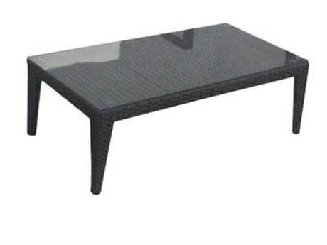 Jaavan Sobe Wicker 47''W x 24''D Rectangular Deluxe Coffee Table